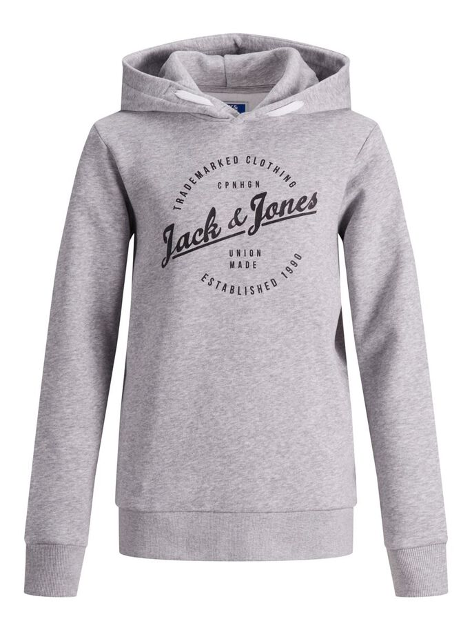 JUNGS HOODIE, Light Grey Melange, large