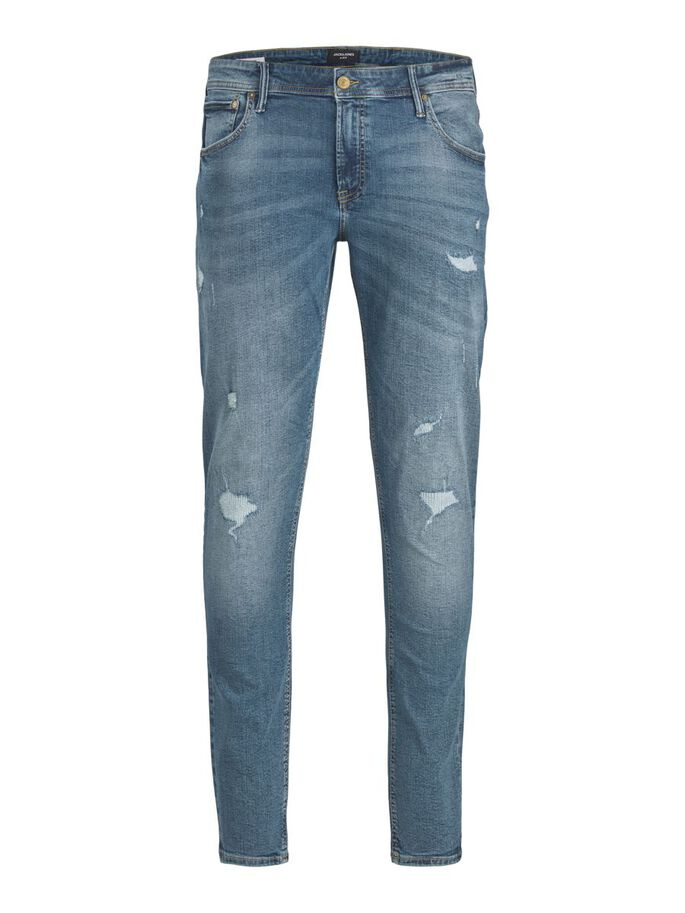 LIAM ORIGINAL NA 101 PLUS SIZE SKINNY FIT JEANS, Blue Denim, large