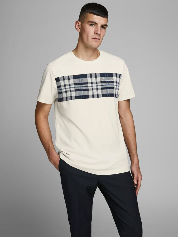 Jack and Jones Camiseta con panel de cuadros