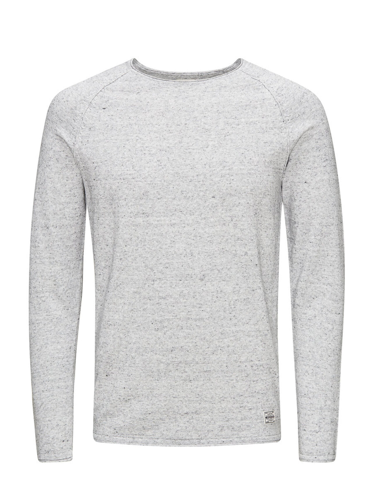 JACK & JONES Classic Knitted Pullover Men grey