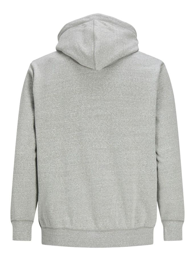 LOOPBACK PLUS SIZE HOODIE, Light Grey Melange, large