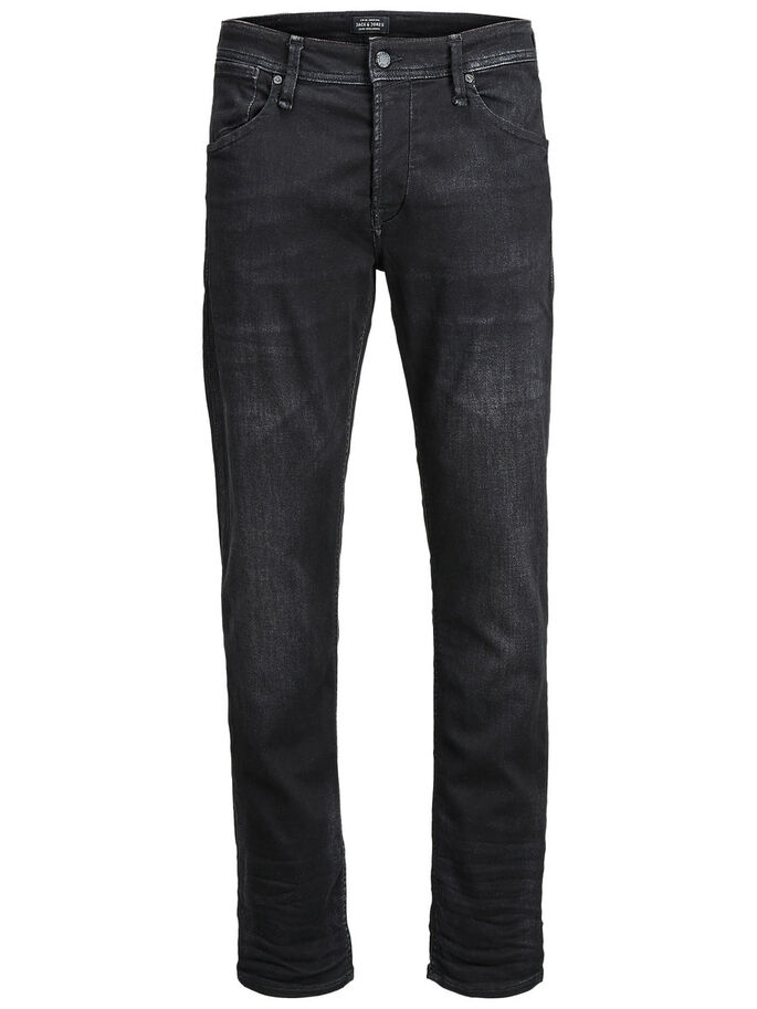 MIKE DASH GE 784 JEAN COUPE CONFORT, Black Denim, large