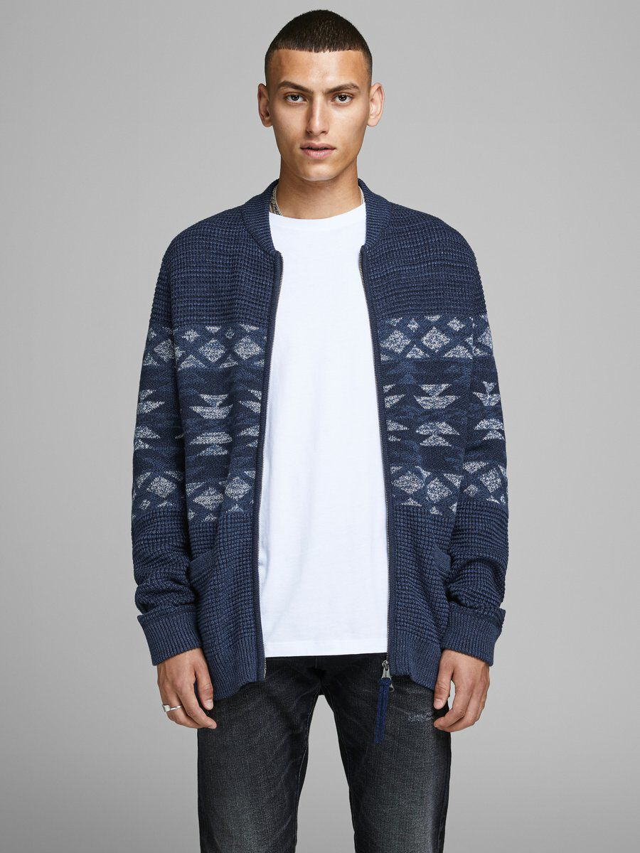Jack /& Jones Mens Jorcarl Knit Shawl Collar Cardigan