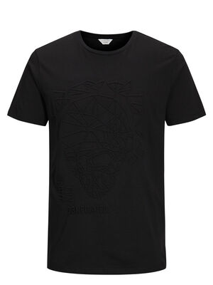 JACK & JONES Grafisches T-shirt Herren Schwarz | 5713738251204