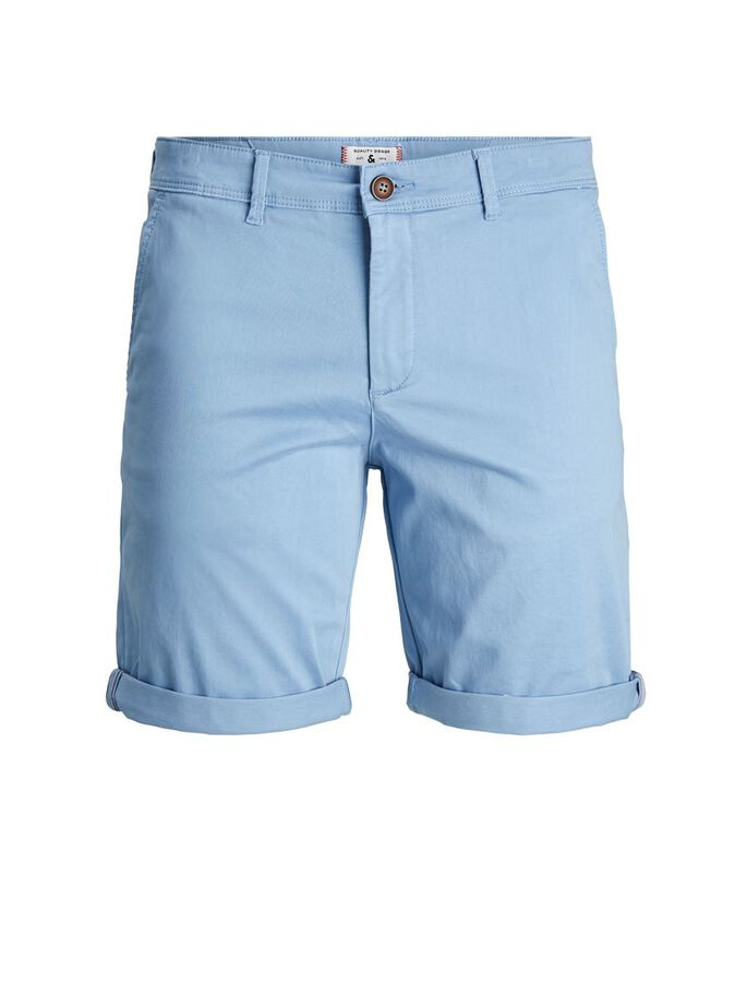 BOWIE SOLID CHINO SHORTS, Faded Denim, large