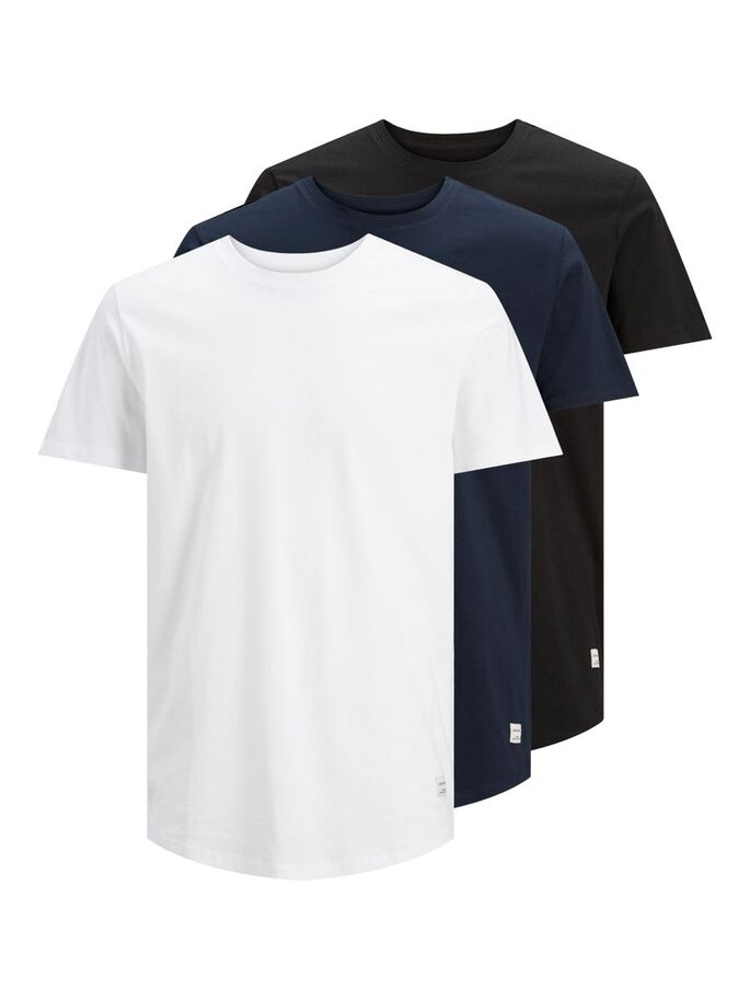 3ER-PACK BASIC T-SHIRT, White, large