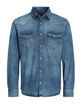 DENIM CAMISA DE MANGA LARGA