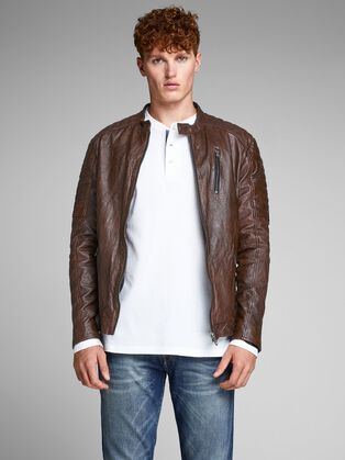 22fa44a64514c BIKER-STYLE LEATHER JACKET