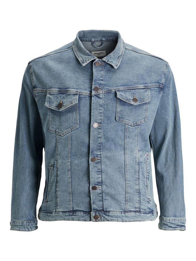 ALVIN 002 PLUS SIZE JEANSJACKE, Blue Denim, large