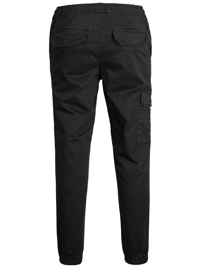 ACE HILL AKM CARGO TROUSERS, Black, large