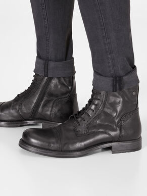LEATHER LEATHER BOOTS