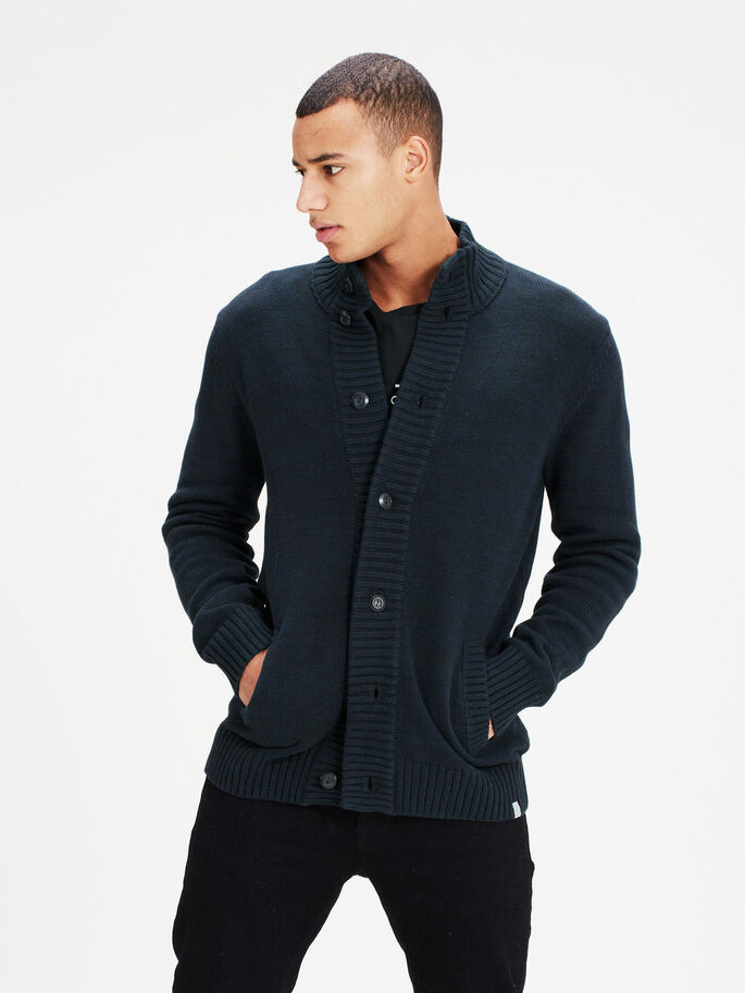 COL MONTANT CARDIGAN, Sky Captain, large