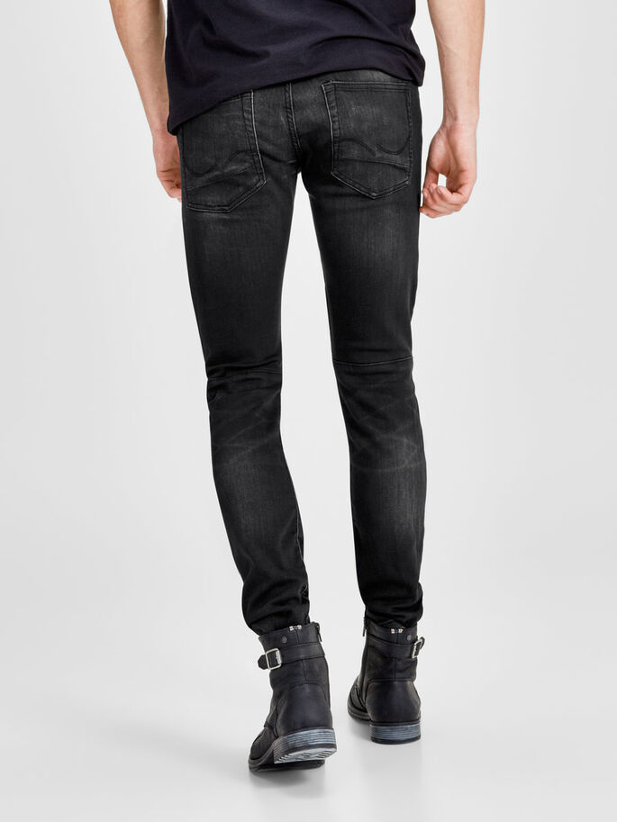 GLENN RYDER GE 105 SLIM FIT JEANS, Black Denim, large
