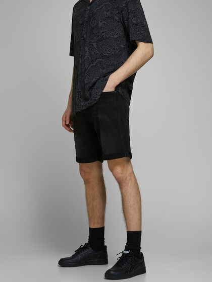 RICK ICON GE 010 INDIGO KNIT SHORTS EN JEAN