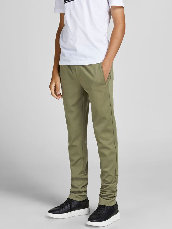 BOYS TAPERED FIT TROUSERS, Forest Night, large