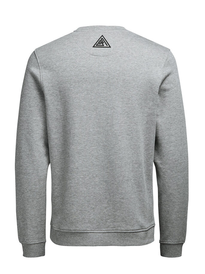 GRÁFICA SUDADERA SUDADERA, Light Grey Melange, large