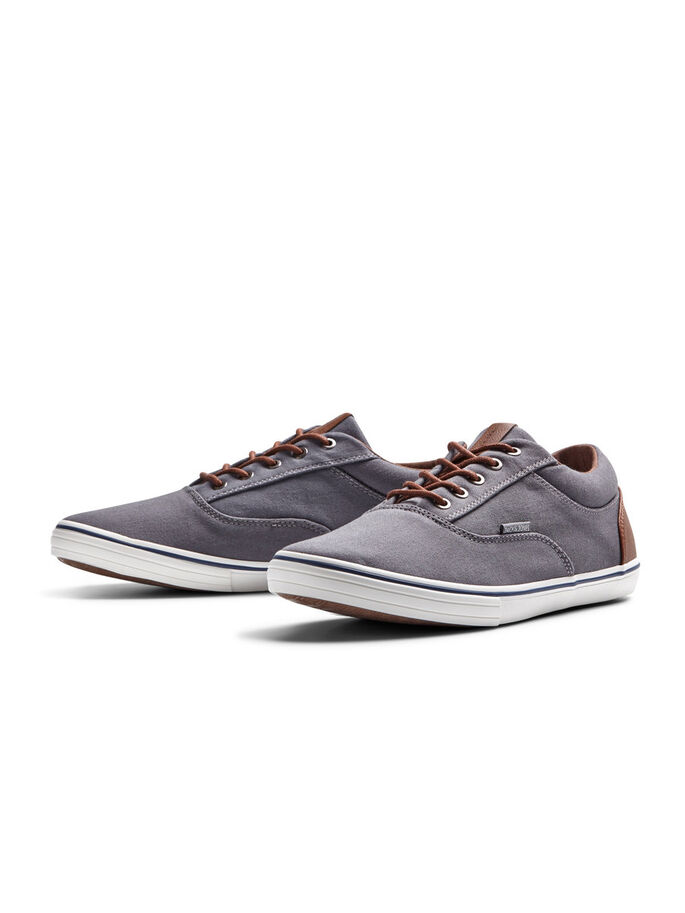 CANVAS SHOES, Pewter, large