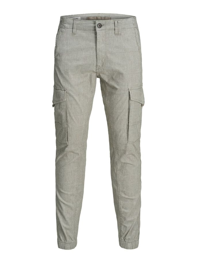 PAUL FLAKE AKM KARIERT CARGOHOSE, Light Gray, large