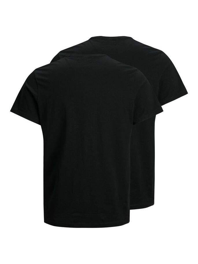 3-PACK COTTON JERSEY LOGO T-SHIRT, Black, large