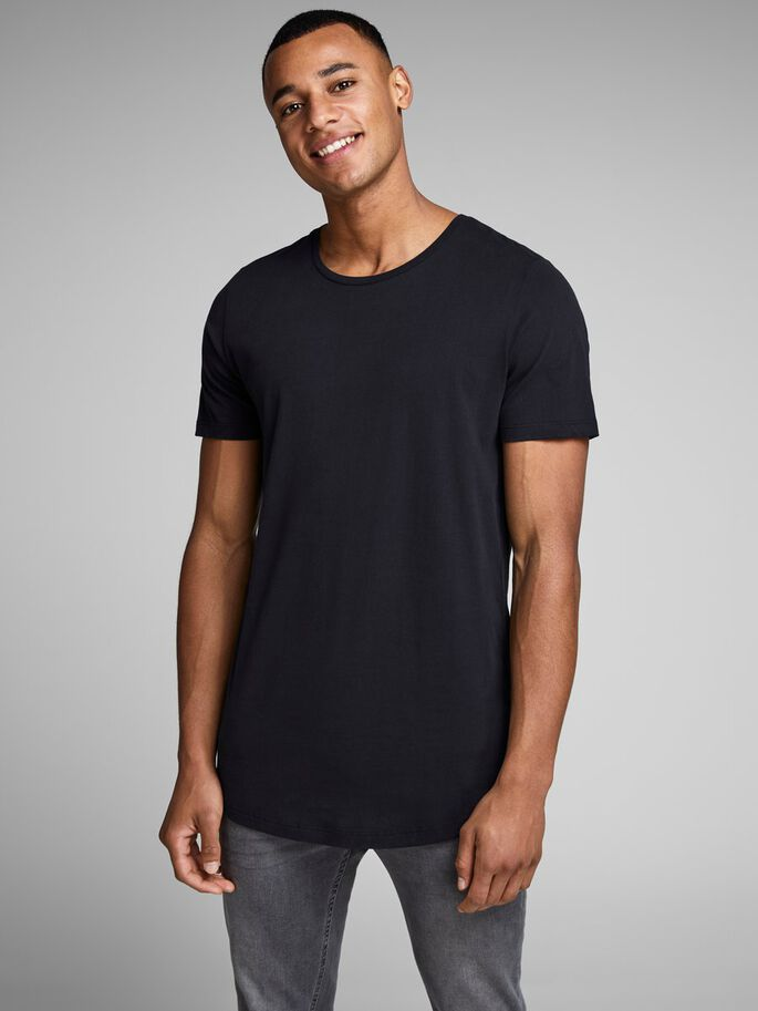 LÅNG T-SHIRT, Black, large