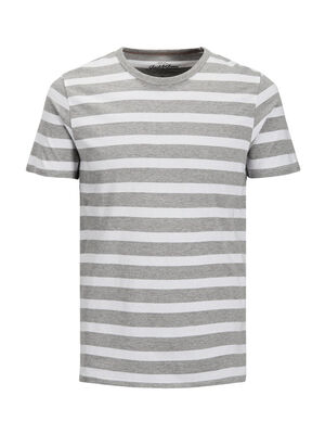 JACK & JONES Gestreiftes T-shirt Herren White | 5713738380997