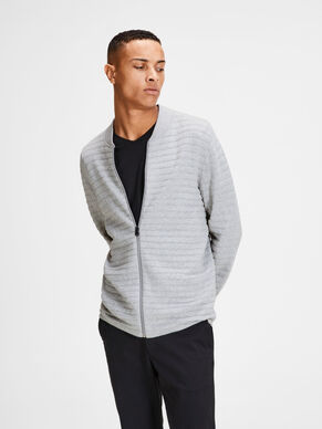 STRUCTURED KNITTED CARDIGAN