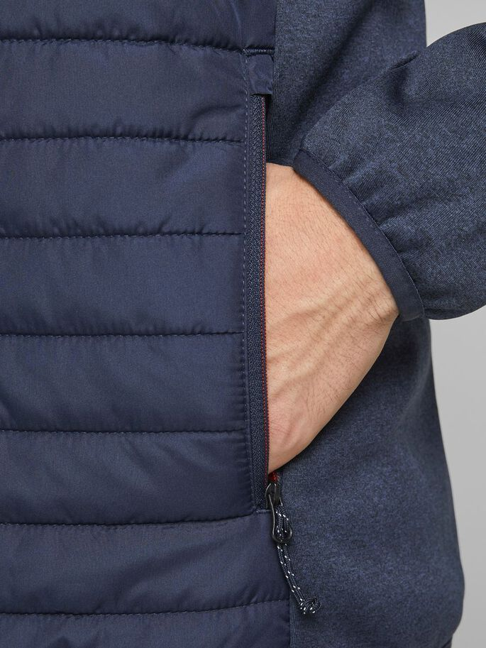 LIGHT QUILTED JACKET, Navy Blazer, large