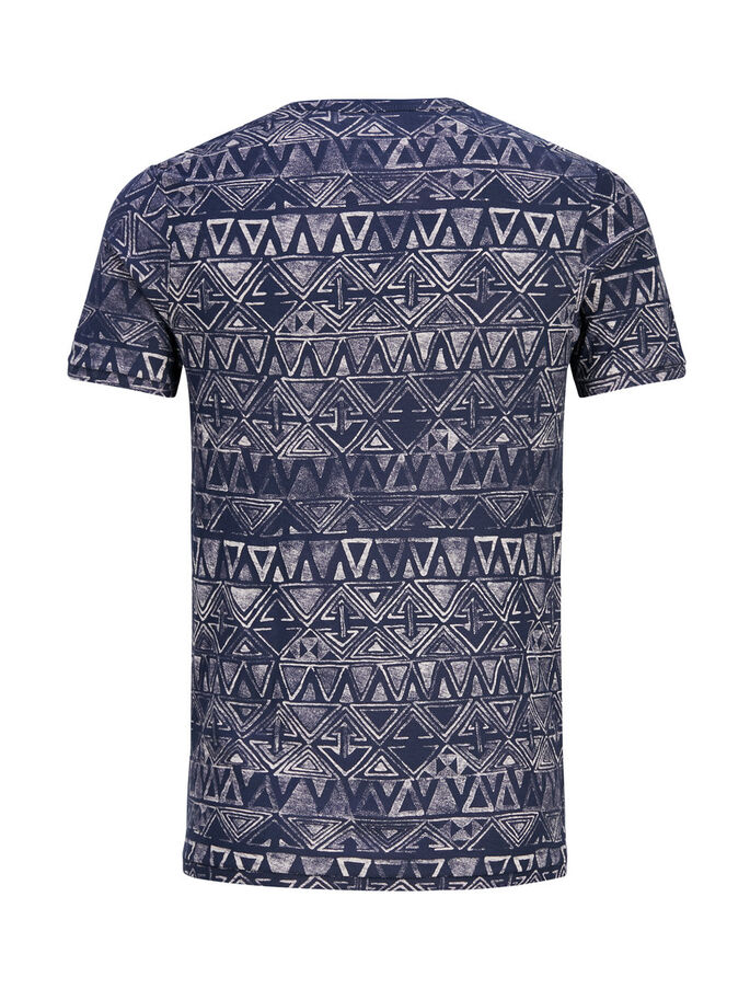 PRINTED T-SHIRT, Mood Indigo, large