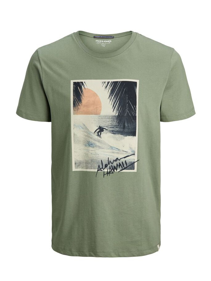 REGULAR FIT HAWAII PRINT T-SHIRT, Sea Spray, large