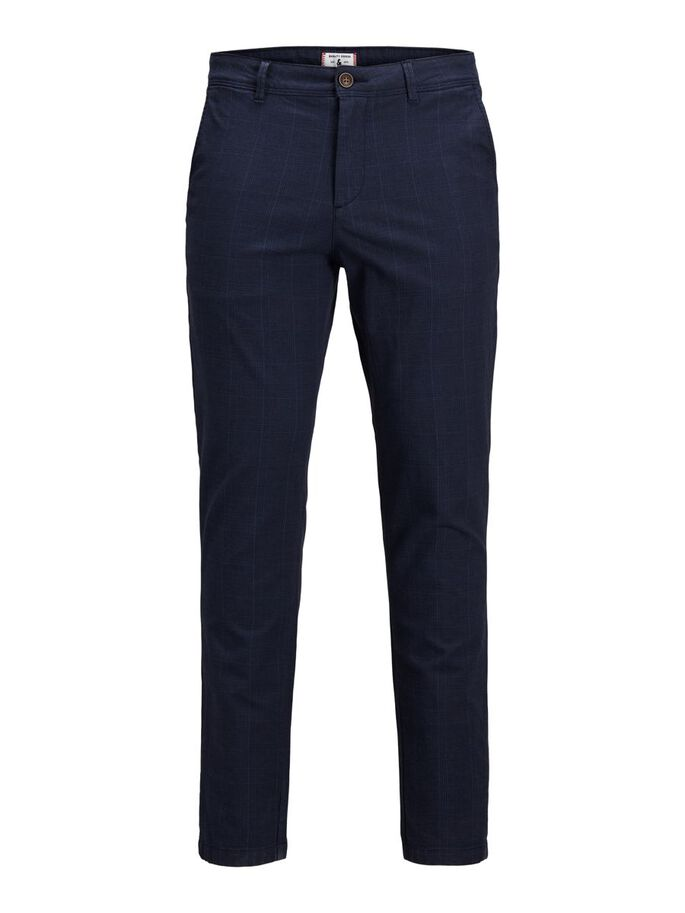 MARCO CHARLES CHECKED CHINOS, Navy Blazer, large
