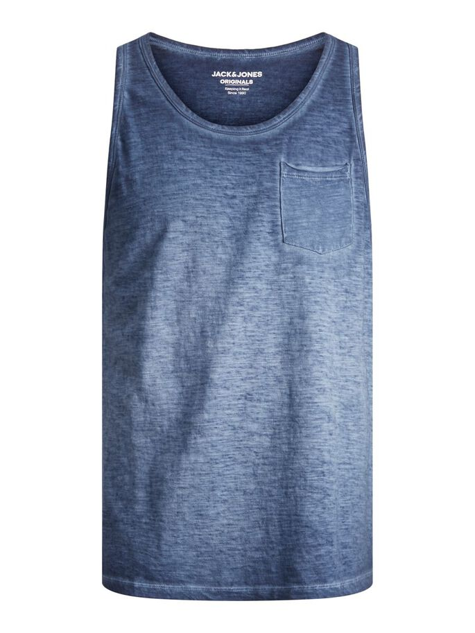 LOOSE FIT DIP DYE TANK TOP, Navy Blazer, large