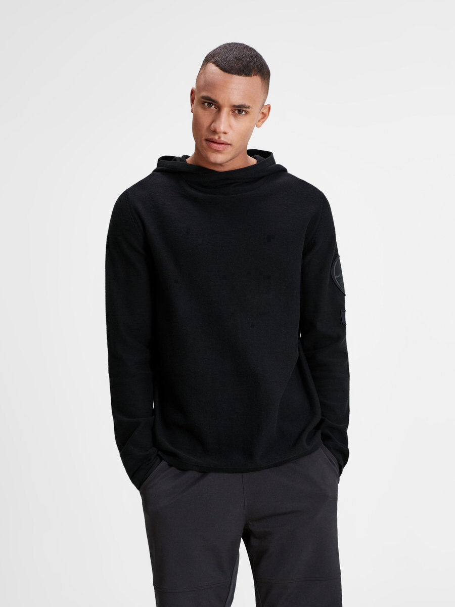 ON-TREND KNITTED PULLOVER, Black, large