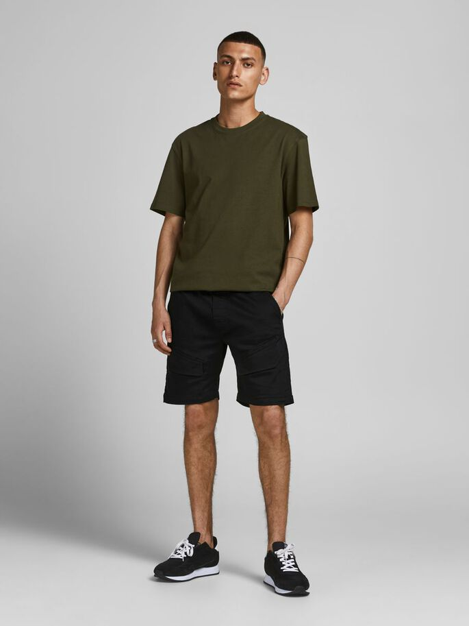 GUS JJ SHORTS CARGO, Black, large