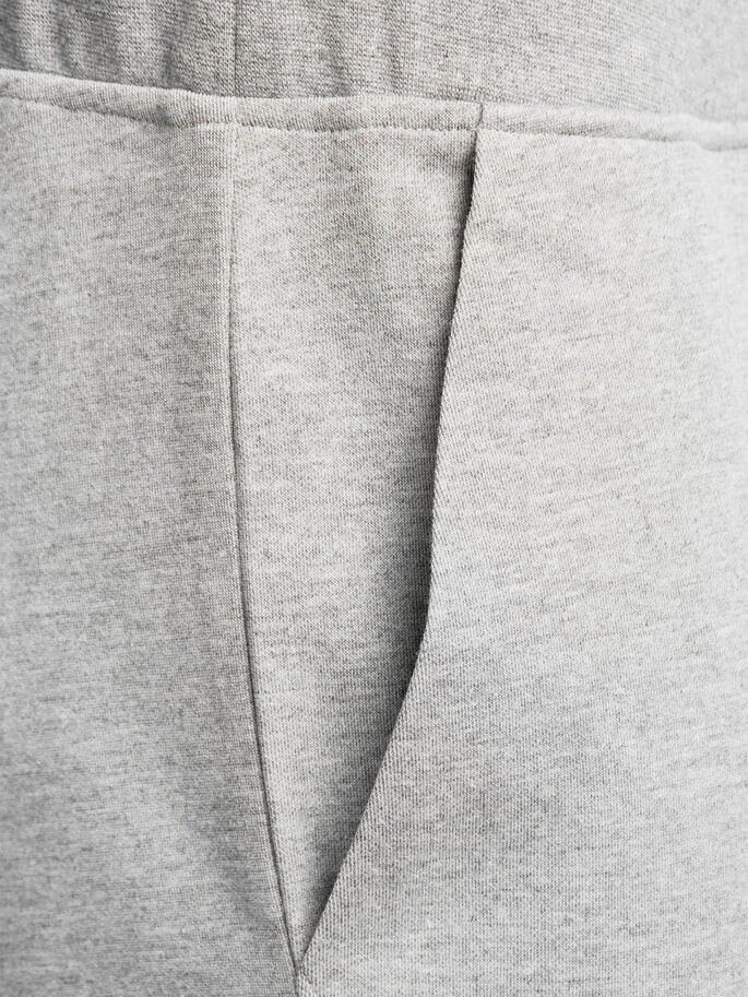 DETALJERADE SWEATBYXOR, Light Grey Melange, large