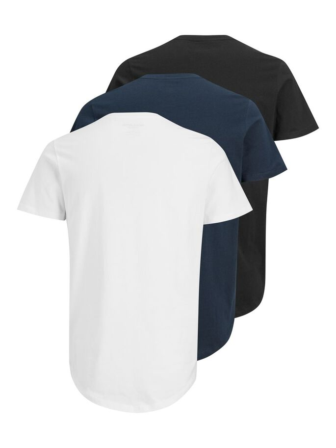 3-PACK T-SHIRT, White, large