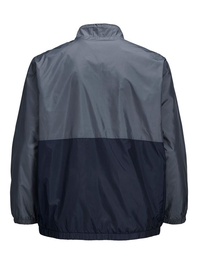 RECYCLED POLYESTER BLEND PLUS SIZE JACKET, Ombre Blue, large