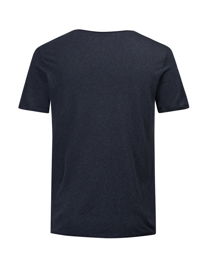 MELANGE SLIM FIT T-SHIRT, Mood Indigo, large