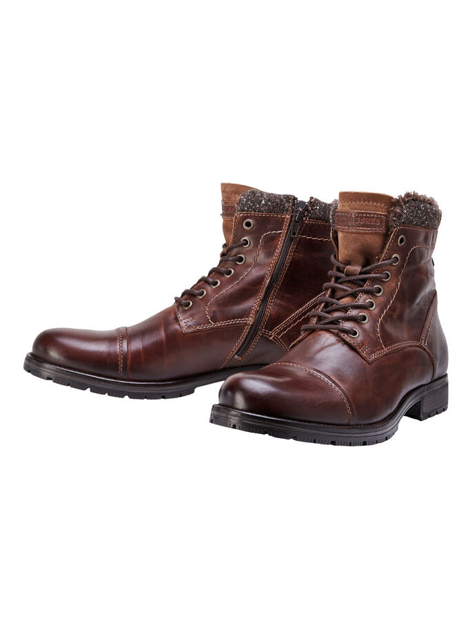 LEATHER BOOTS, Cognac, large