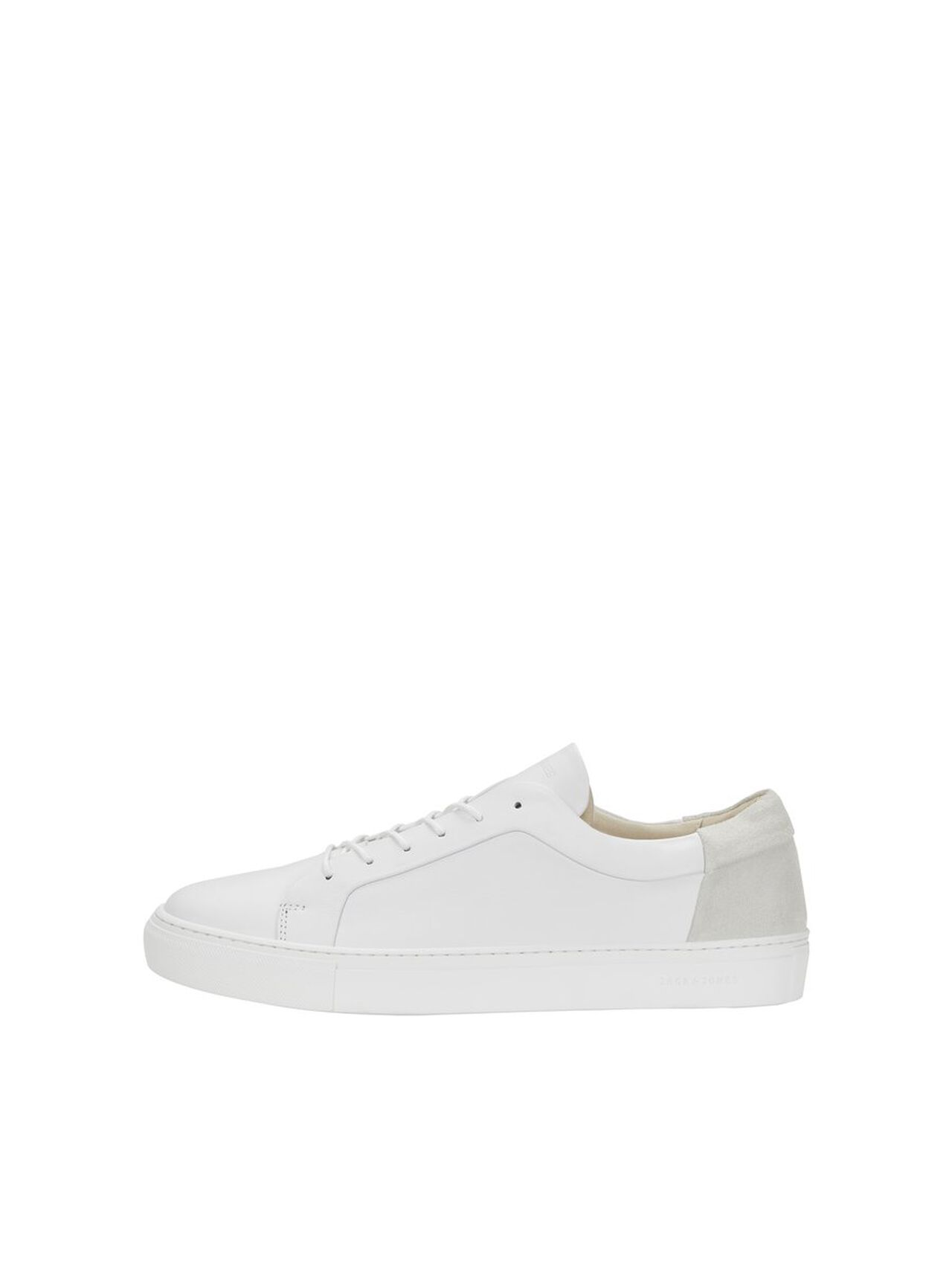 JACK & JONES Leather Sneakers Men White