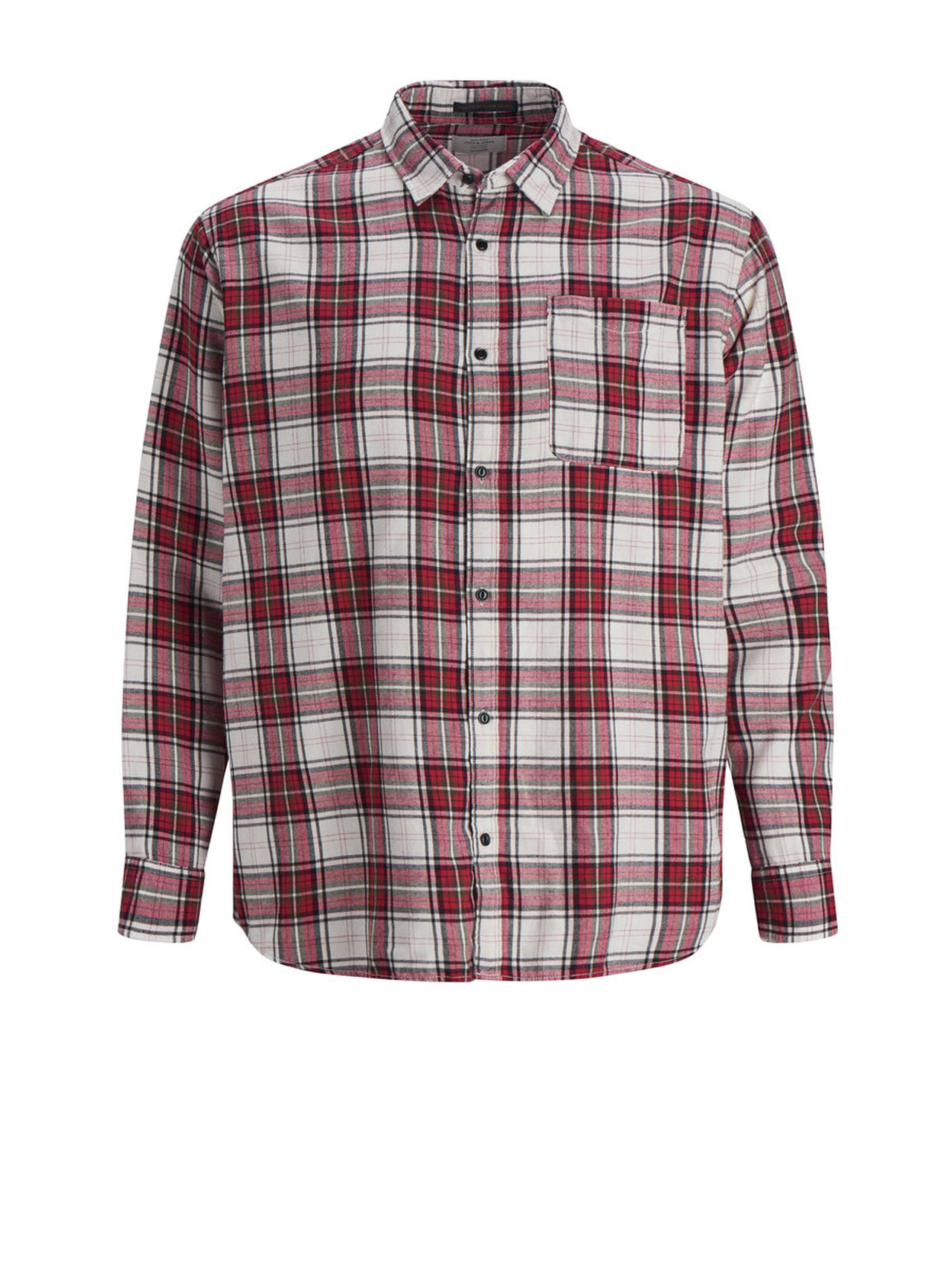 JACK & JONES Check Plus Size Shirt Men Red
