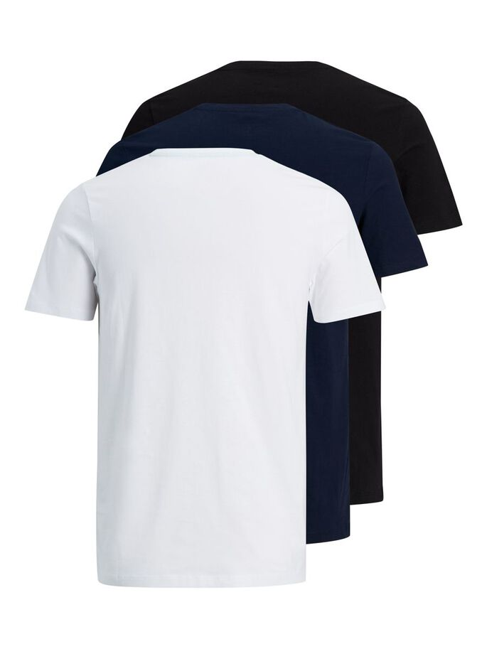 3ER-PACK T-SHIRT, Navy Blazer, large