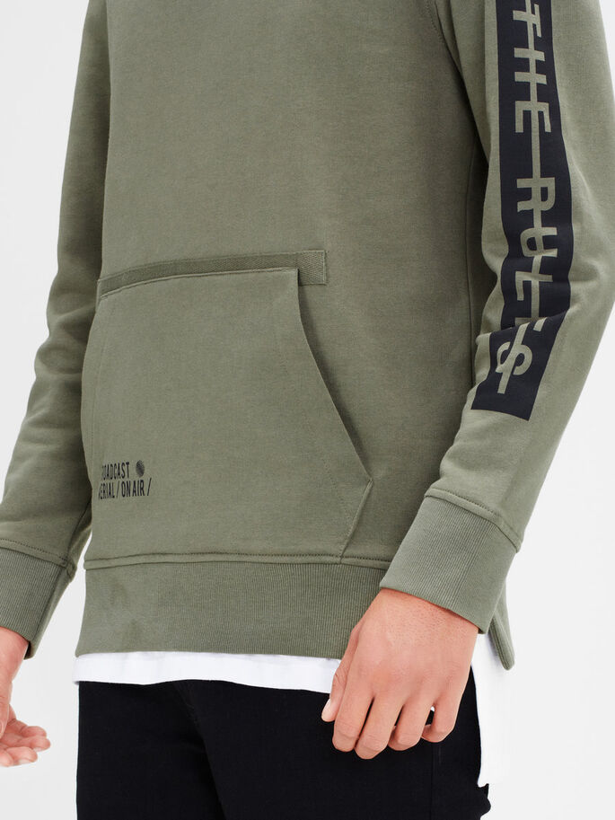 DETALJERT SWEATSHIRT, Dusty Olive, large