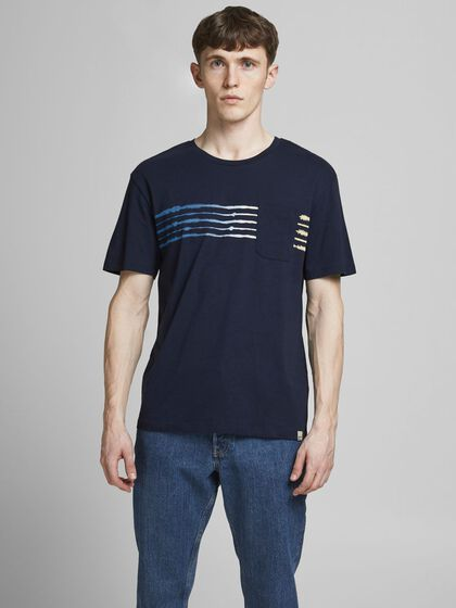 RELAXED FIT STRIBE T-SHIRT