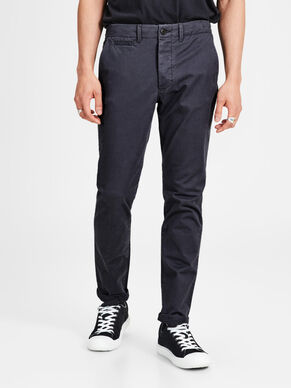 MARCO ENZO DARK GREY SLIM FIT CHINOS