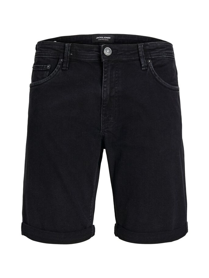 RICK FELIX AM 066 DENIM SHORT, Black Denim, large