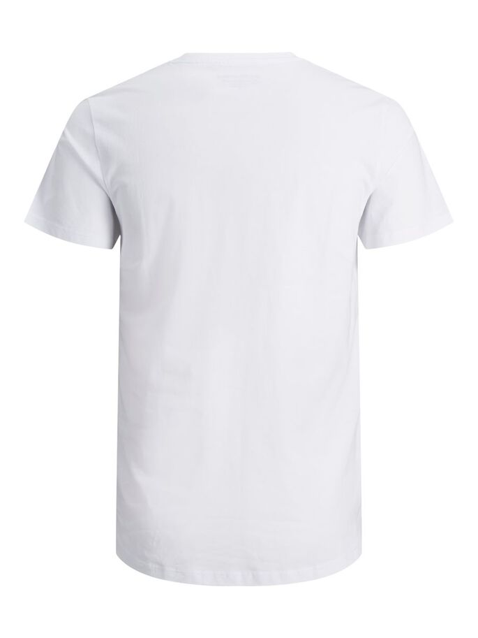 DE CUELLO REDONDO CAMISETA, White, large