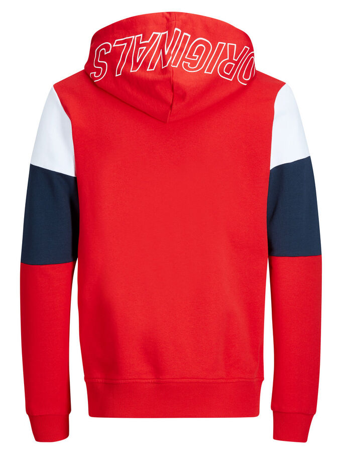 CASUAL SWEATSHIRT, Fiery Red, large