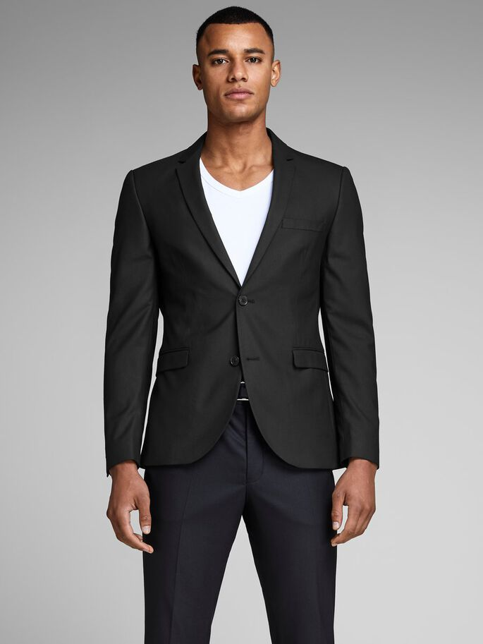 SLIM FIT BLAZER, Black, large