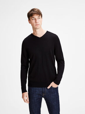 MERINO WOOL KNITTED PULLOVER