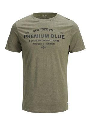 JACK & JONES Print T-shirt Herren Grün | 5713738810319